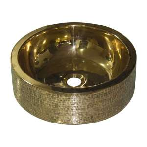 Brass Sink Pattern Exterior Double Wall Design