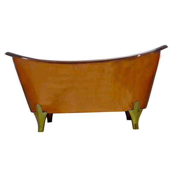 Copper Bathtub Full Copper Finish and Brass Legs
