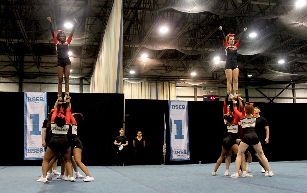 Cheerleading Team and Action Photos  Athletics