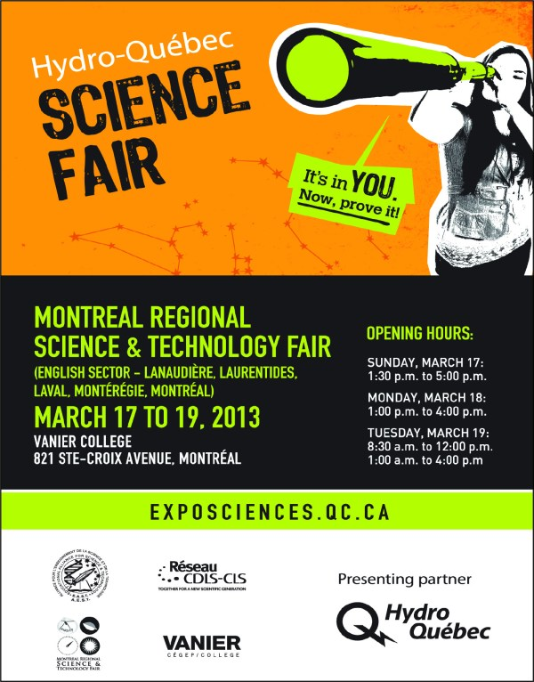 Hydro-quebec Montreal Regional Science And Technology Fair