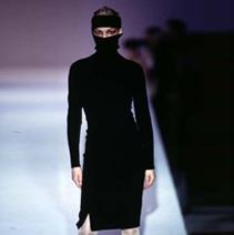 HUSSEIN CHALAYAN NIQAB DRESS, 1997
