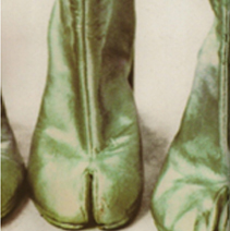MAISON MARTIN MARGIELA TABI BOOTS, 1989. GOLD OR OTHER EXTREME STYLES