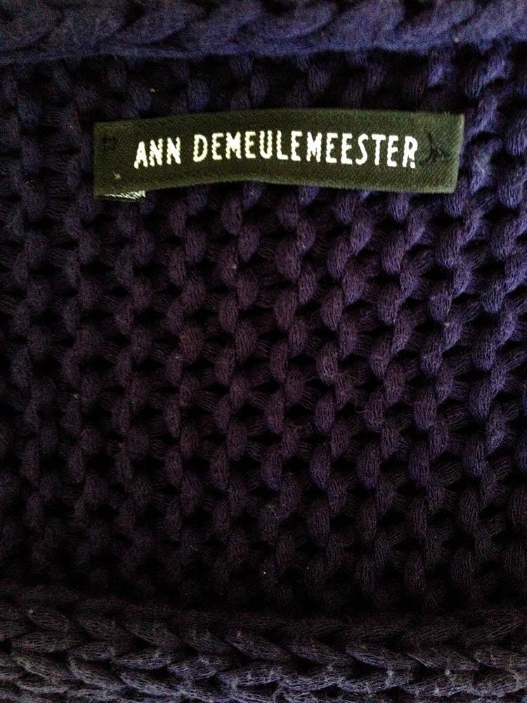 ann demeulemeester purple jumper label