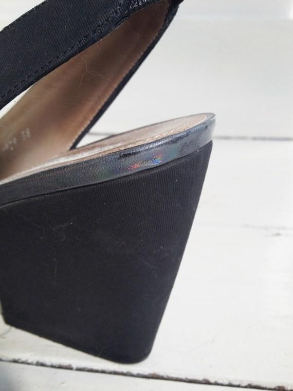 Dries Van Noten black holographic pumps