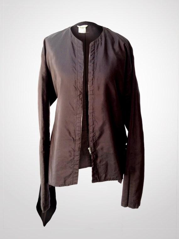 Dries Van Noten purple bomber jacket
