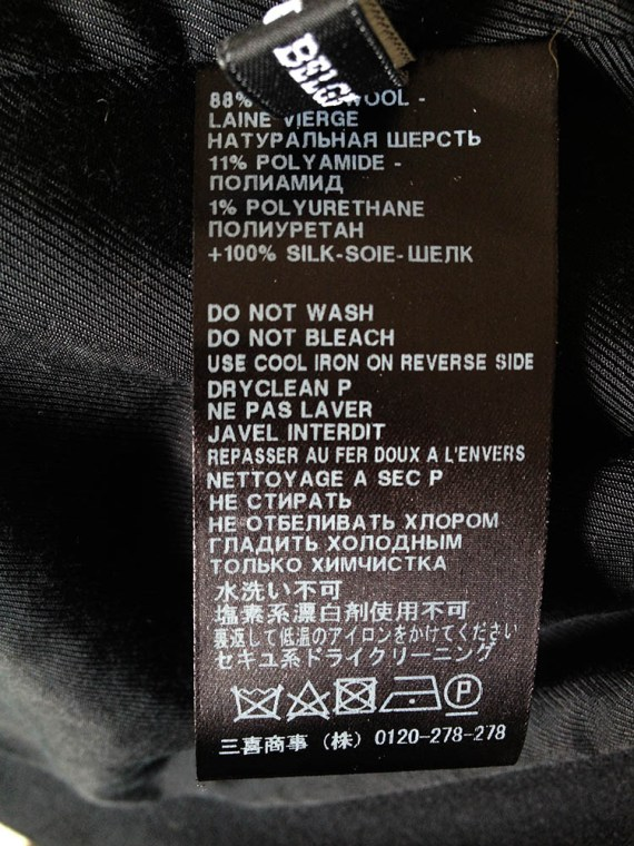 Haider Ackermann spring 2011 runway jacket label