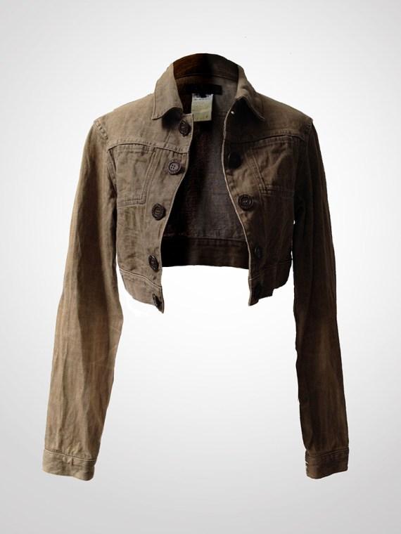 Yohji Yamamoto cropped jeans jacket front