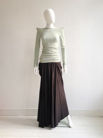 new Maison Martin Margiela green shoulder peak top — fall 2009