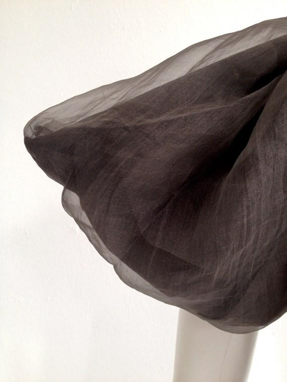 Rick Owens brown asymmetric collar dress fall 2010 - GLEAM