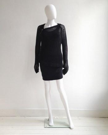 A.F. Vandevorst black buckle jumper | Ann Demeulemeester black racerback top | Alexander Wang mini skirt | shop at vaniitas.com