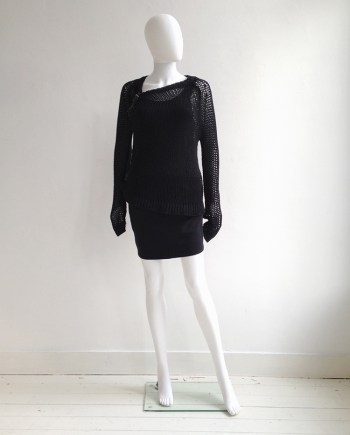 A.F. Vandevorst black buckle jumper | Ann Demeulemeester black racerback top | Alexander Wang mini skirt | shop at vaniitas.com