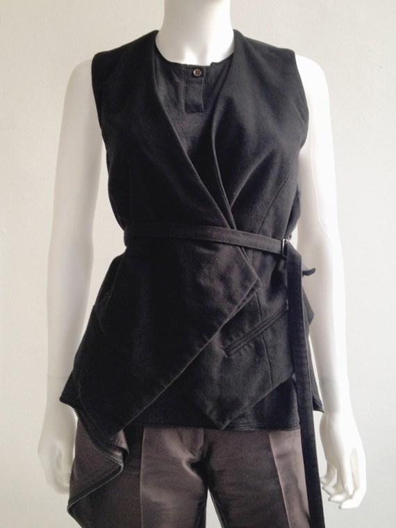 vintage Haider Ackermann black waistcoat