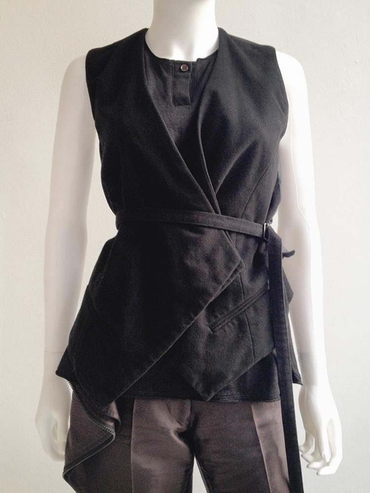 second hand Haider Ackermann black waistcoat