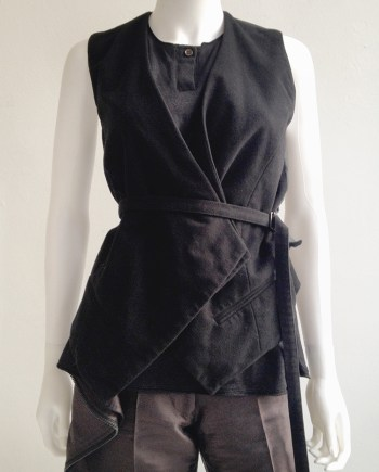 second hand Haider Ackermann black waistcoat