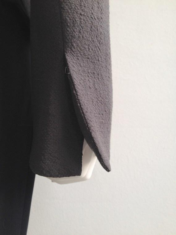 second hand Haider Ackermann grey asymmetric blazer — spring 2008