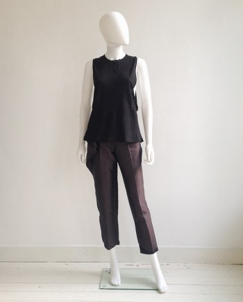 Nicolas Andreas Taralis black muscle tee | Haider Ackermann purple peplum trousers — fall 2010 | shop at vaniitas.com