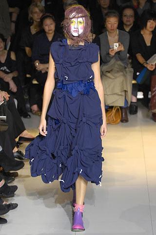 vintage Comme des Garçons blue knotted top — spring 2008