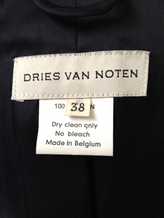 vintage Dries Van Noten blue floral satin kimono jacket