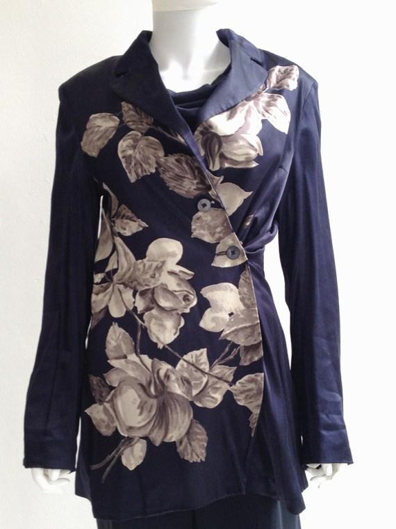 dries+van+noten+blue+silk+floral+kimono+jacket+top1
