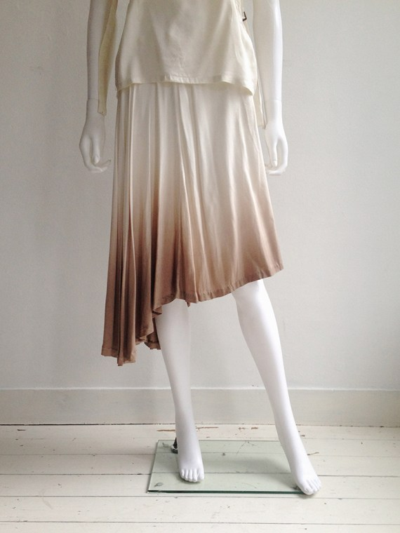 vintage Maison Martin Margiela ombre transformable dress — spring 2003