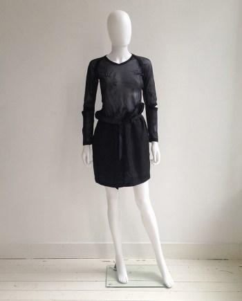 Silent by Damir Doma black paperbag skirt | Helmut Lang black sheer phoenix top — fall 1995 | shop at vaniitas.com
