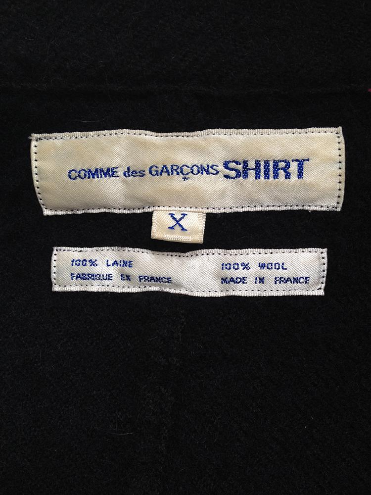 Comme des Garçons Shirt dark blue patchwork blazer