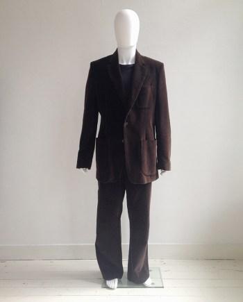 Maison Martin Margiela 10 brown corduroy suit
