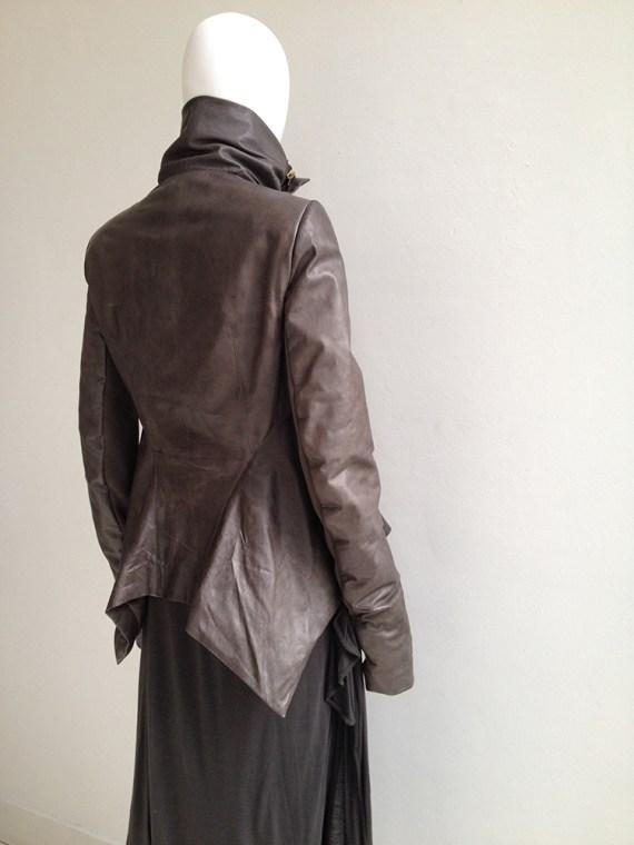 vintage Rick Owens brown leather naska jacket