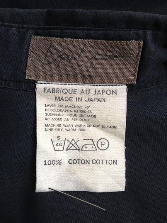 Yohji Yamamoto homme mens black oversized shirt archive 80s 19800140
