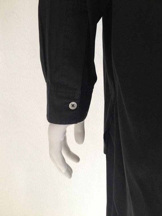 Yohji Yamamoto homme mens black oversized shirt archive 80s 19808953