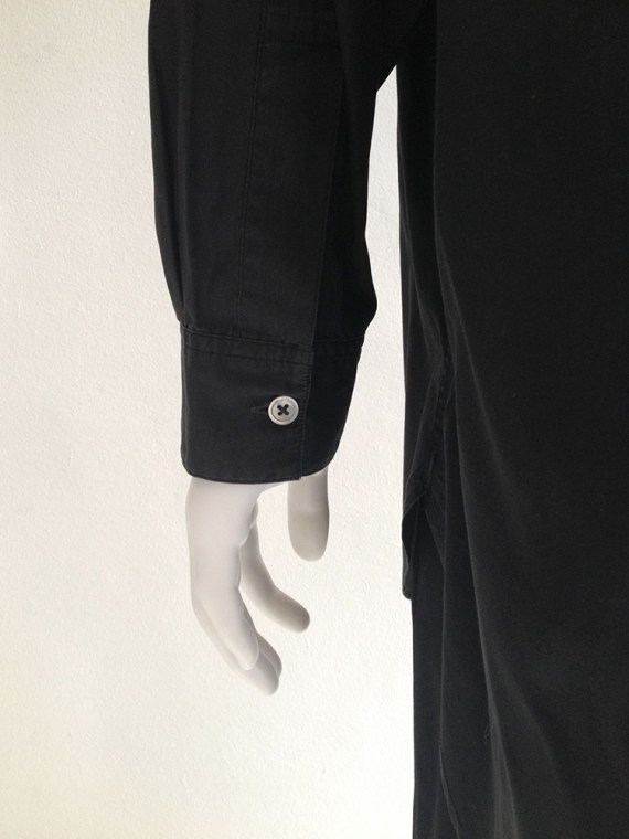 archive Yohji Yamamoto pour Homme black oversized shirt — 80s