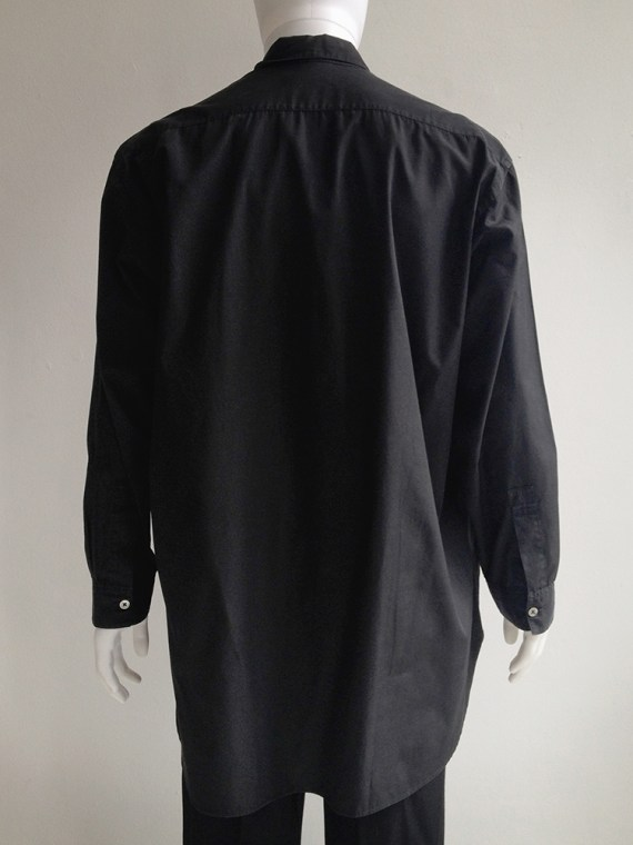 Yohji Yamamoto homme mens black oversized shirt archive 80s 1980top2