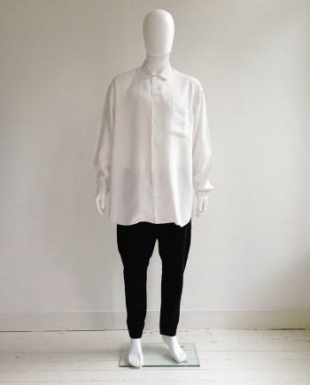 Gothic Yohji Yamamoto white oversized shirt