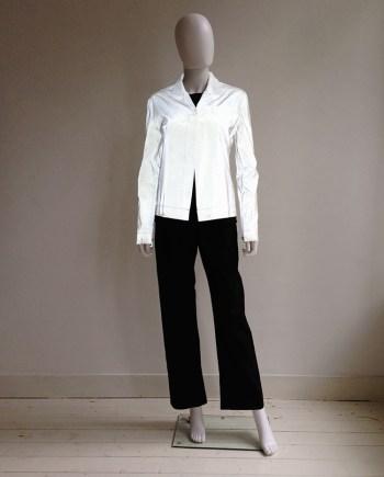 Helmut Lang white reflective jacket — spring 1995