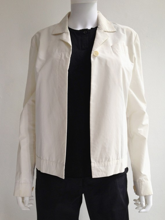 Helmut Lang archive white reflective jacket – fall 1994 -top3