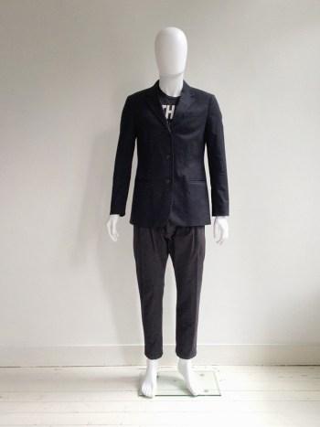 Helmut Lang dark blue mens blazer — 1990s