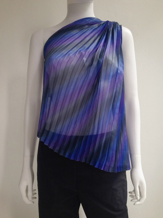 Issey Miyake Fete purple pleated transformation top top3