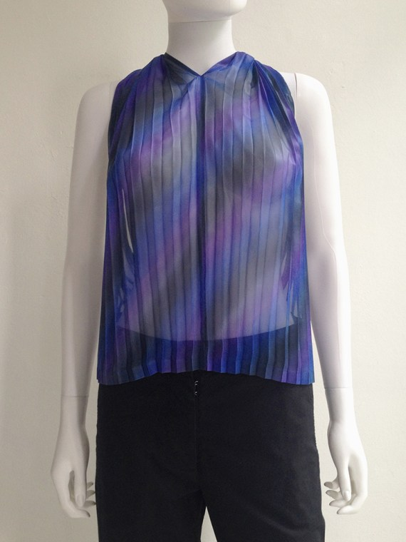 Issey Miyake Fete purple pleated transformation top top5