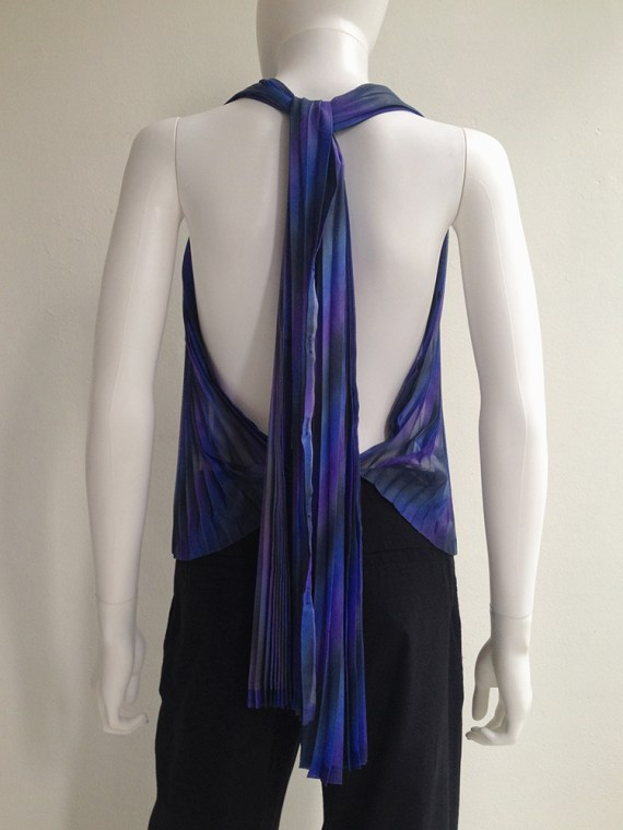 Issey Miyake Fete purple pleated transformation top top6