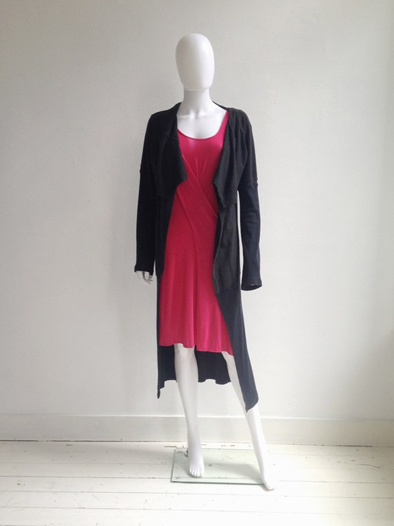 Maison Martin Margiela artisanal black t-shirt cardigan couture archive model1