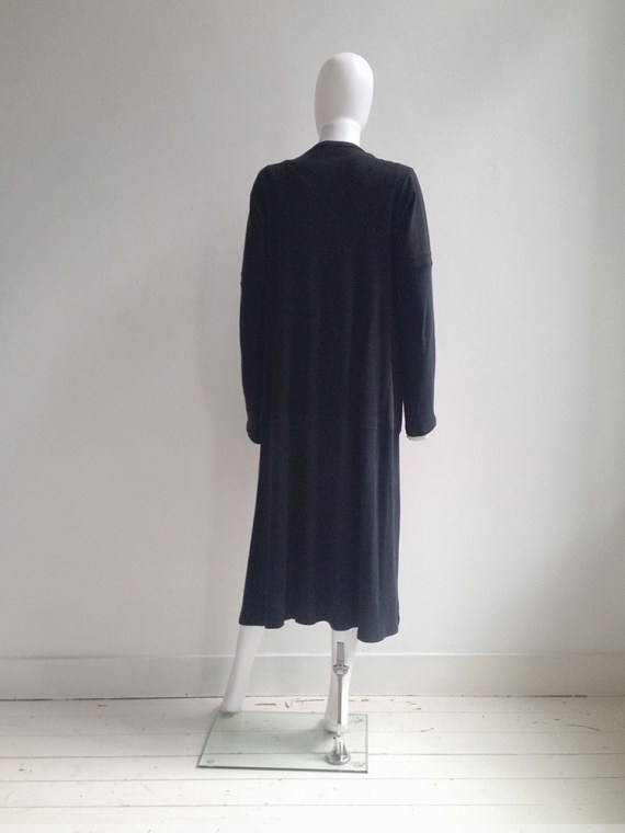 Maison Martin Margiela artisanal black t-shirt cardigan couture archive model2