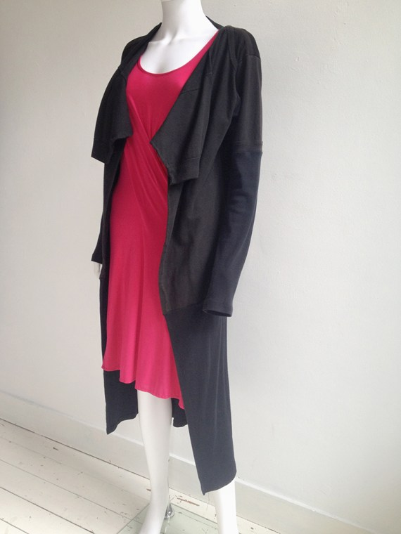 Maison Martin Margiela artisanal black t-shirt cardigan couture archive top2