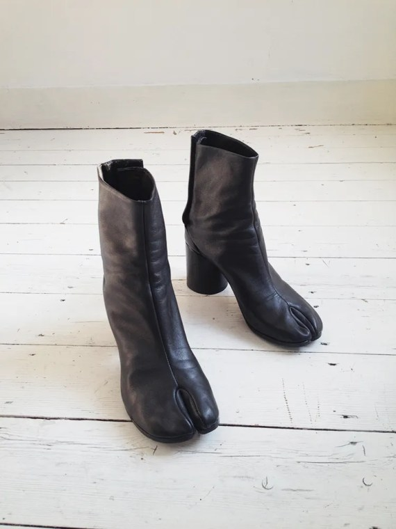 Maison Martin Margiela black tabi boots 40 – early 90s 6266