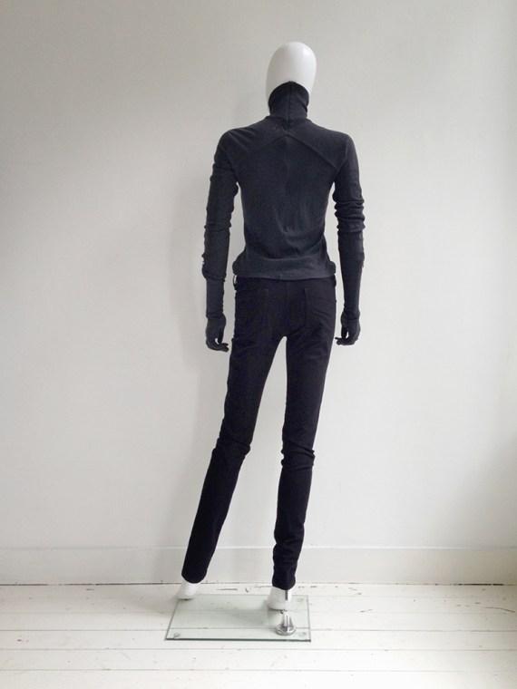 A.F. Vandevorst black gloved jumper – fall 2011