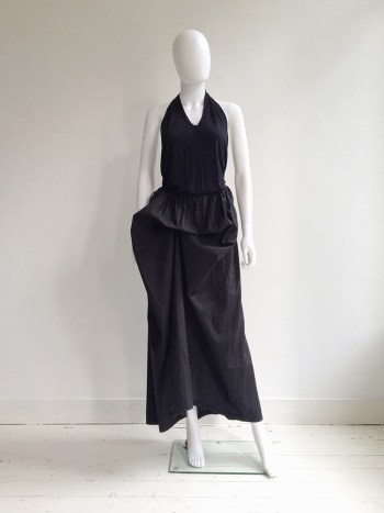 Ann Demeulemeester black draped maxi skirt