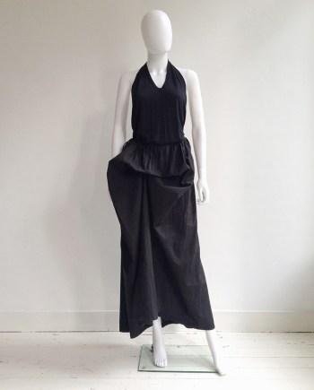 Ann Demeulemeester black draped maxi skirt
