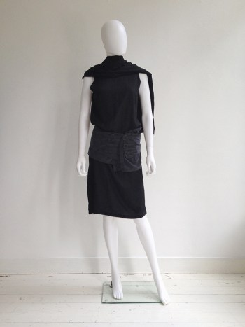 Ann Demeulemeester dark grey skirted belt