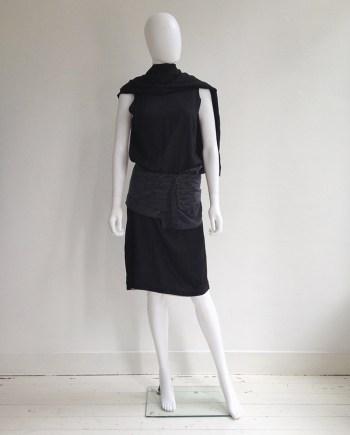 Ann Demeulemeester dark grey skirted belt