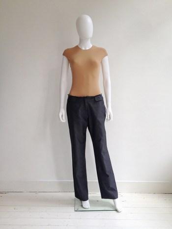 Maison Martin Margiela grey cut-off waist trousers