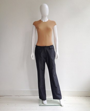 Maison Martin Margiela grey cut-off waist trousers